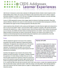 CEDS Addresses: Learner Experiences