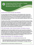 Integrating Adult Education, Career Technical Education, and Workforce Data into CEDS